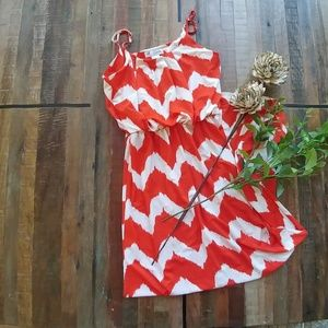 💜Fun red and white maxi dress💜